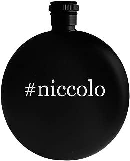#niccolo - 5oz Hashtag Round Alcohol Drinking Flask, Black