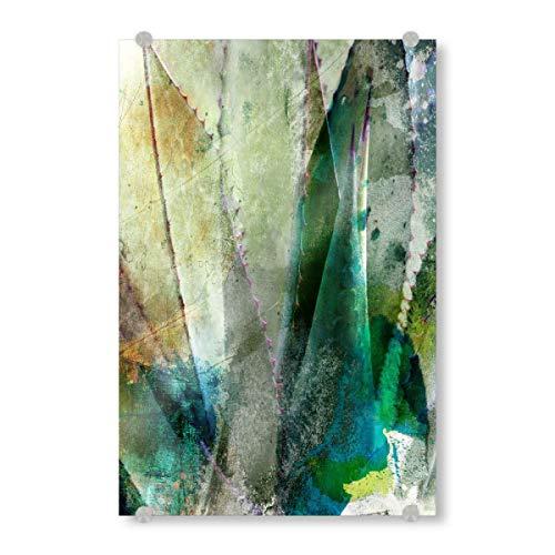 artboxONE Acrylglasbild 90x60 cm Natur Agave Abstract Bild hinter Acrylglas - Bild Botanical Plants Plant