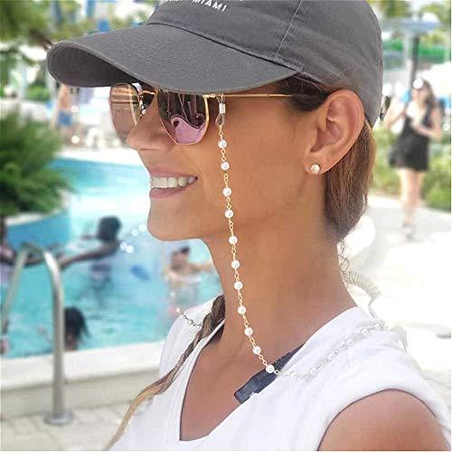 Cathercing,collar de cadena de gafas,estilo vintage,con cuentas de perlas,soporte para gafas de lectura,correa para gafas de sol,cordón para sujetar gafas,cordones para mujeres y niñas mayores