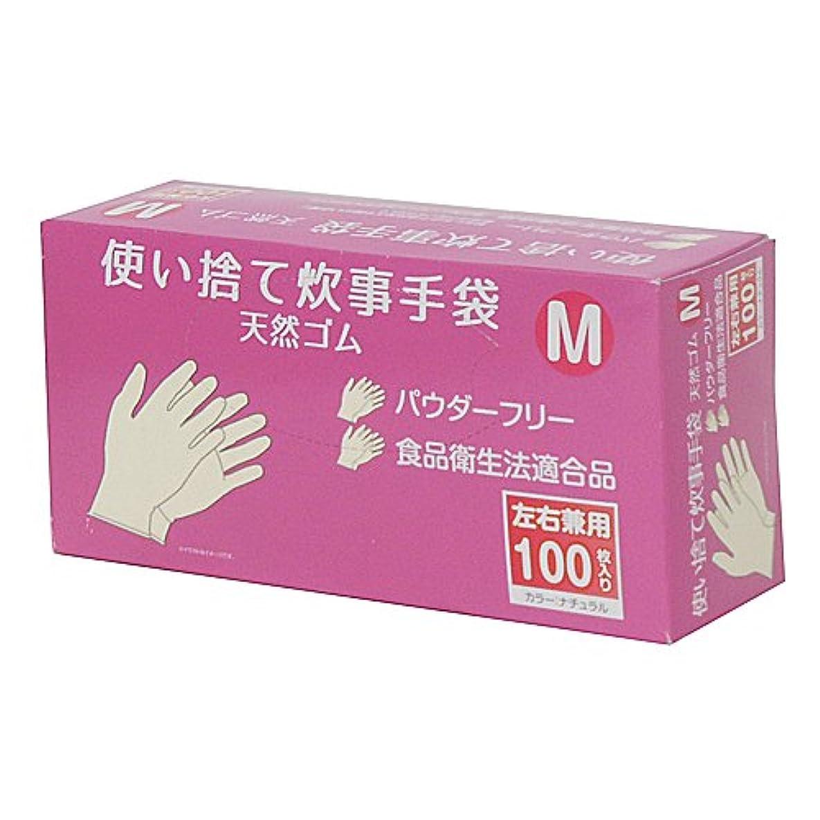 ミニ内向き裸コーナンオリジナル 使い捨て 炊事手袋 天然ゴム 100枚入り M KFY05-1128