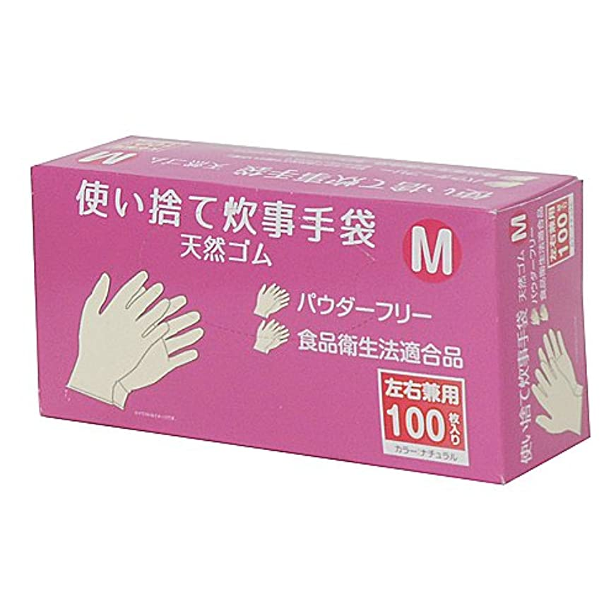 しなやか二層敬なコーナンオリジナル 使い捨て 炊事手袋 天然ゴム 100枚入り M KFY05-1128