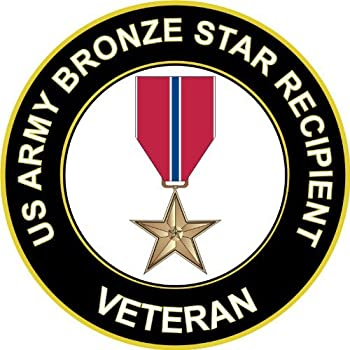 MilitaryDecals23 5.5  US Army Bronze Star Recipient Veteran Decal Sticker