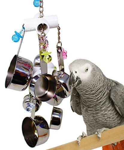 Cutepet Papagei Spielzeug Vogelspielzeug Glocken Aus Edelstahl Zum Aufhängen Im Käfig Für Sittiche Kakadus Aras Graupapageien Und Finken