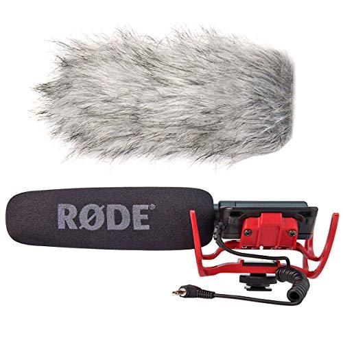 Rode Videomic Rycote Richtmikrofon für Kameras + DeadCat Fell-Windschutz