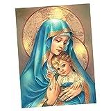 Madonna 5D Diamante DIY Ricamo A Punto Croce Decorazione Casa Pittura Quadri Religiosi 20x25cm