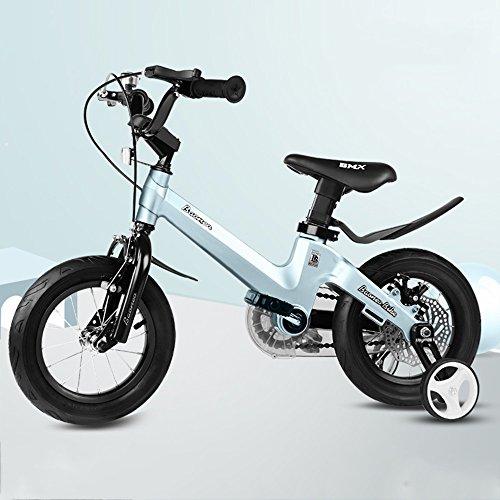 Bicycle LVZAIXI Bottoni Royal Baby Freestyle BMX Bikes Bikes A 11 Colori - in Taglia 12,14,16,18 Pollici con STABILIZZATORI SFAVORE Pesanti. (Colore : Blu, Dimensioni : 14Inch)