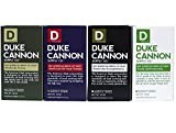 Duke Cannon Men's Bar Soap Variety 4 Pack - Big American Brick Of Soap 10oz - Triple Milled For Highest Quality - 1 Of Each