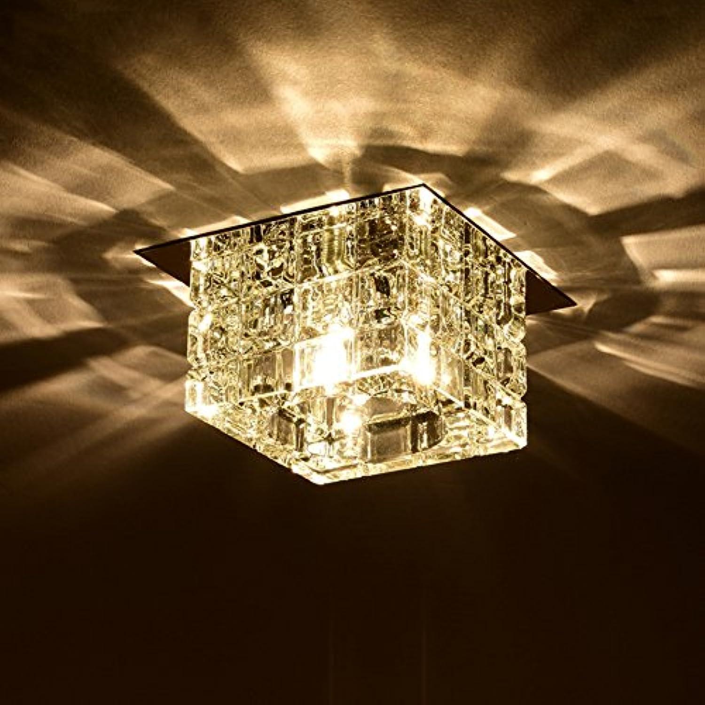 Lampes suspendues Moderne LED Cristal Embedded Plafond Hall, étude, Bureau, Chambre à coucher, Salon [Classe énergétique A ++] (Couleur   Transparent Couleur)