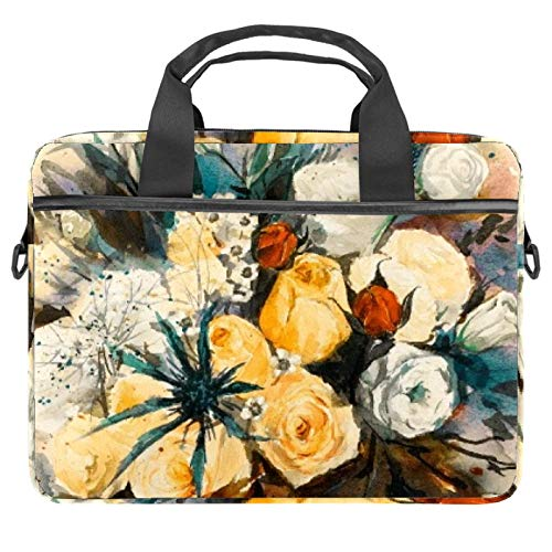 13.4'-14.5' Laptop Case Notebook Cover Business Daily Use or Travel Painting Flowers