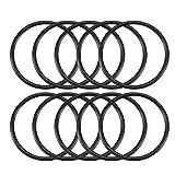 sourcing map 10pz Gomma nera O-ring olio guarnizione ron per della 25mm x 22mm x 1.5mm