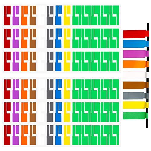 Kabeletiketten Kabel Beschriftung Farben Sortiert Selbstklebend Kabeletikett UV-beständige Wasserdicht Reißfest Haltbar Kabel Aufkleber für Laserdrucker 540 Stück 9 Farben