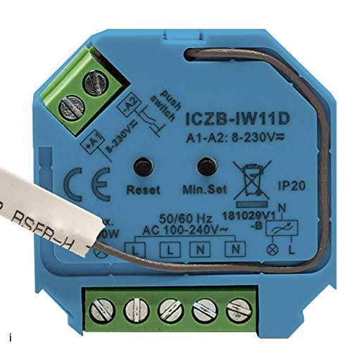 icasa Aktor 1 canal 230 V compatible con Zigbee 3.0 Gateway, Dimm-Aktor, 1 Kanal 230V, max. 200W/400W