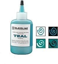Teal GLASSLINE FUSING PAINT PEN 2 oz Bottle