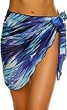 JFAN Spiaggia Wrap Sarong Coprire Gonne Avvolgenti del Costume da Bagno Chiffon Donna Spiaggia Wrap Sarong Coprire