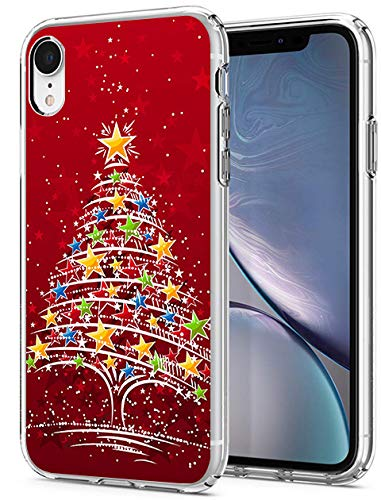 Protective Case Applicable to iPhone XR 6.1 inch Red Christmas Tree