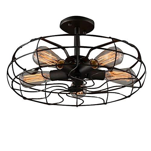 Yangmanini Estilo Industrial Diseño Creativo Lámpara De Techo Retro Salón Comedor Pasillo Pasillo Ventilador En Forma De Techo