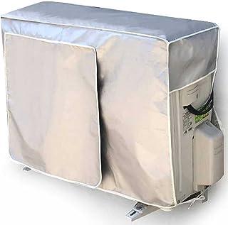 PURE-O エアコン 室外機カバー 大型 小型 サイズ選べる 防水 防塵 日焼け止め 取り外し不要 効率アップ シルバー(XS 72*26*57cm)