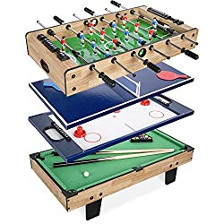 small Best Choice 4-in-1 Products: Game table with billiards, air hockey, table football, table tennis