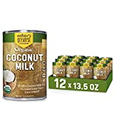 Organic Coconut Milk by Nature's Greatest Foods - 13.5 Oz - No Guar Gum, No Preservatives – Gluten Free, Vegan and Kosher - 17-19% Coconut Milk Fat, Unsweetened