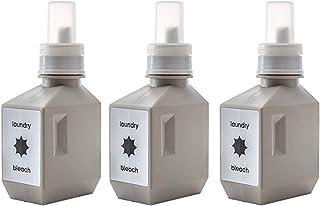 set-ls020x3wgy-ttt/セット販売●b2c ランドリーボトル S 500ml 3本入り ウォームグレー|サラサデザイン ランドリーボトル 洗剤 ボトル 詰め替え 洗濯洗剤