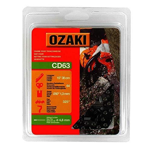 Ozaki - Cadena de Motosierra, semicuadrada, Debajo de la Cubierta: 325
