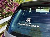 Cartel personalizado de bebé a bordo (blanco) | Pegatina de bebé a bordo | Pegatina de bebé a bordo | Pegatina personalizada