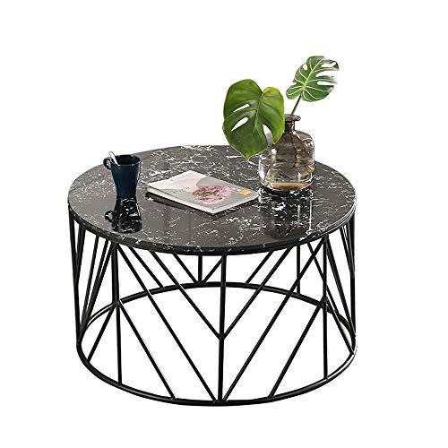 XINTONGSPP Mesa de Centro Redonda de sofá, Mesa de Estar Creativa, terraza Patio de té de Hierro Forjado, 60 * 45 cm