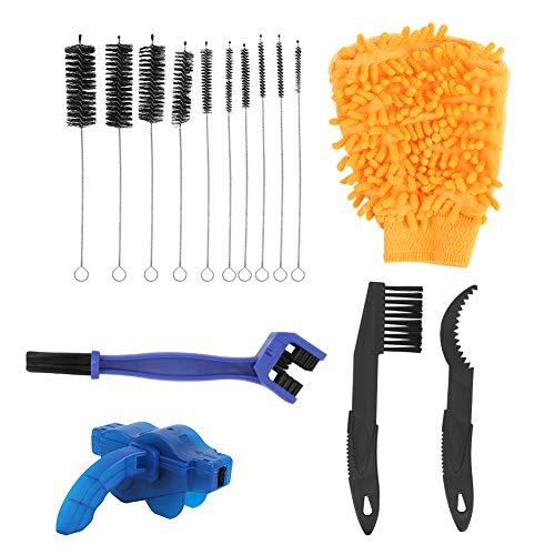 keenso Bike Chain Washer Set, 15 Pcs/Set Bike Chain Washer Mountain Bicycle Chain Cleaning Brush Set(Black)