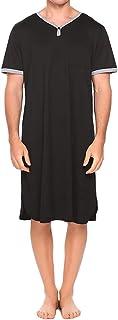 Men 's Sleep Shirt, Mens Sleepshirt Comfy Big & Soft Short Sleeve Nightshirt V Neck Sleepwear Long Nightgown Pajama