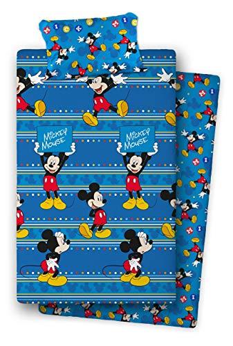 Asditex Juego de sábanas Coralina Mickey Mouse (Cama 90)