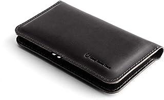 NEW iPhone 12, 12 Pro, 12 Pro Max, 12 Mini Leder Geldbörse/Hülle für zwei Telefone | Classic Brown, handgefertigt, Crazy H...