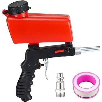 Kit Blasting Gun sandblasting Pneumatic Compressed Air Aluminum//Metal