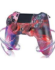 PS4コントローラー用ワイヤレスコントローラー、PlayStation4用高精度ジョイスティックBluetoothゲーミングコントローラーを備えたコントローラー二重振動ゲーム (Color : Red sky)