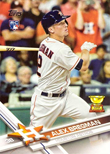 2017 Topps Baseball #341 Alex Bregman Rookie Card - His 1st Official Rookie Card!