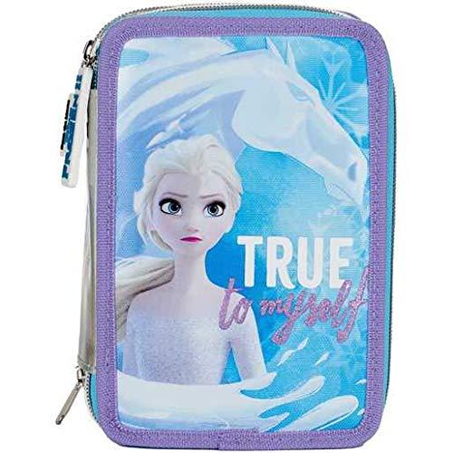 Auguri Preziosi Disney Frozen Astuccio Scuola Elementare Triplo, Astuccio Portapenne e...