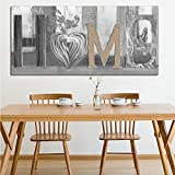 Abstract Home Design Flower Oil Painting on Canvas Poster Art Wall Picture for Living Room Decor A 20x40cm