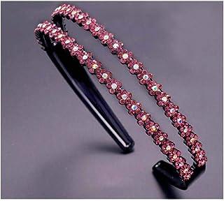 Headband Crystal Hairhoop Non-slip Teeth Hairband Hair Accessories for Women #8