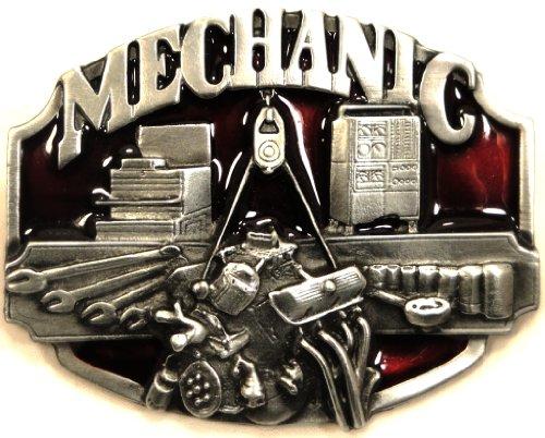 MECHANIC ENGINE BLOCK Metal Belt Buckle