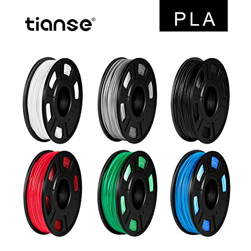 TIANSE 6 colores PLA Filament 1.75 mm