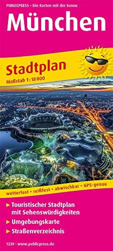 München: Touristischer Stadtplan mit Sehenswürdigkeiten und Straßenverzeichnis. 1:18000: Touristischer Stadtplan mit Sehenswrdigkeiten, Umgebungskarte und Straenverzeichnis (Stadtplan / SP)