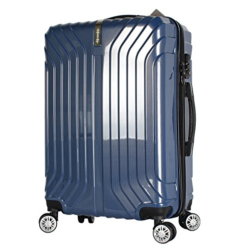 (ムーク)M∞K スーツケース 超軽量 TSAロック 【一年間修理保証】ABS+PC素材 (Lサイズ(7日〜目安)約90L, ブルー)