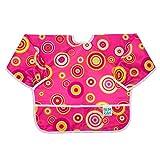 [ バンキンス ] Bumkins お食事エプロン 6~24ヶ月 スリーブビブ 長袖 エプロン スタイ 防水 洗濯可 Bibs Waterproof Accessories Sleeved Bib (6-24m) Pink Fizz Sleeved Bib ベビー ビブ よだれかけ 赤ちゃん [並行輸入品]
