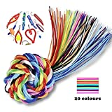 Sinzau Scoubidou Strings, Plastic Lace Crafts, Groovy Gimp and Best Handwork, for Keychains, Lanyards,...