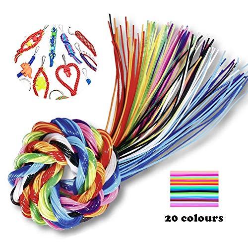 sinzau - Hilos de scooby doo de plástico para hacer manualidades. 20 Colores, 200 hilos