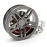VmG-Store | Portachiavi in metallo, design 109, per portachiavi, Black Chrom...