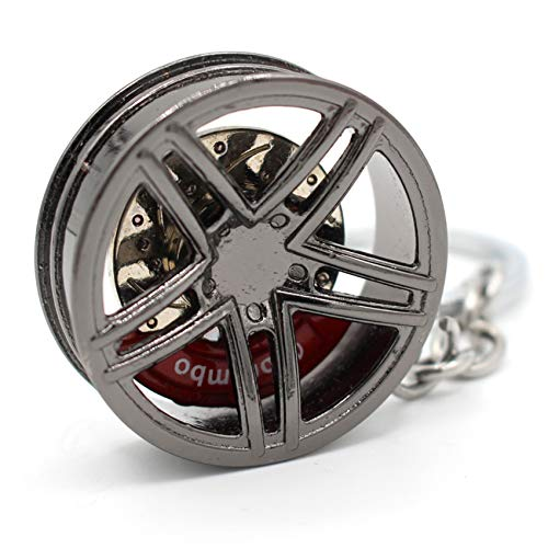 VmG-Store Felge Schlüsselanhänger aus Metall Design109 Anhänger für Schlüssel (Black Chrom)
