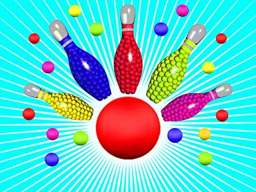 Lernen Sie Farben mit Bowling