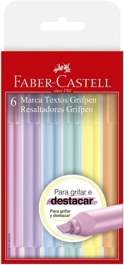 Kit de canetas marca-texto, da Faber-Castell