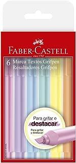 Caneta Marca Texto, Faber-Castell, Grifpen, MT/TP6ZF, 6 Cores, Tons Pastéis