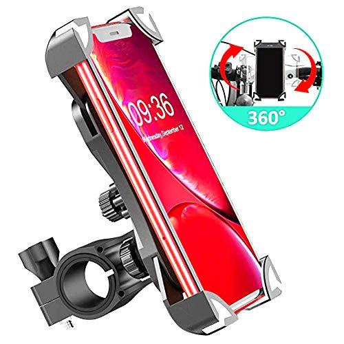 MAILIER Fahrrad Handyhalterung 360° drehbar Verstellbar Anti-Rutsch Anti-Shake Universal Handyhalterung für Telefon 11 Pro, Pro Max Xs XR 8 X 8P 7 7P 6S, Samsung S10 S9 S8, Huawei, alle 4.7-6.8 Geräte